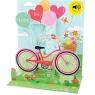 Kartki 3D - Bike and Balloons Asortyment ogólny / Obraz i Dźwięk