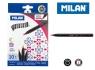 Flamastry MILAN z końcówką pędzelkiem 10 kolorów