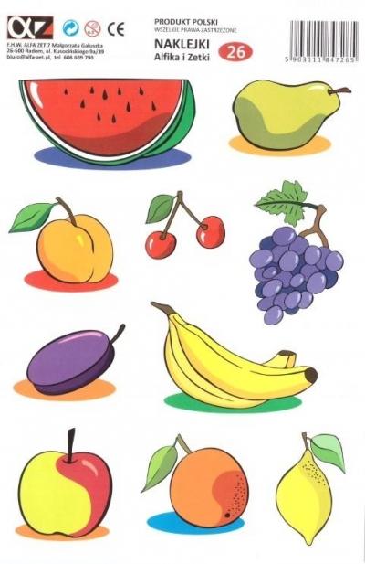Naklejki Alfika i Zetki 26 Owoce