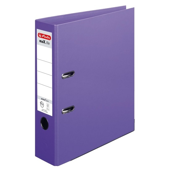 Segregator A4/8cm maX.file protect plus Voll - fioletowy (OUTLET - USZKODZENIE)