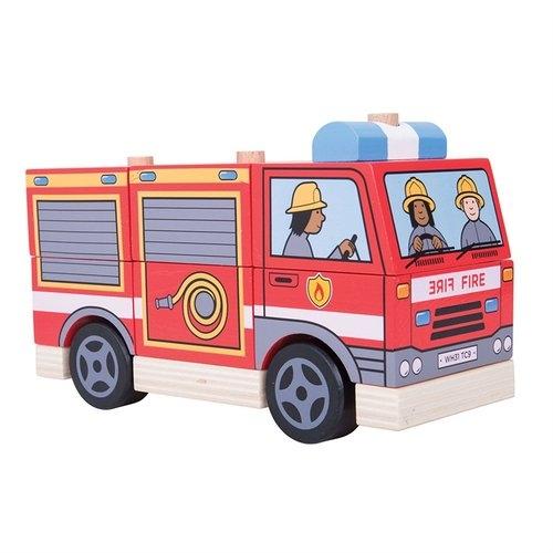 Pojazd z klocków Straż Pożarna
