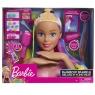 Barbie Deluxe - głowa do stylizacji tęczowe włosy (63225)