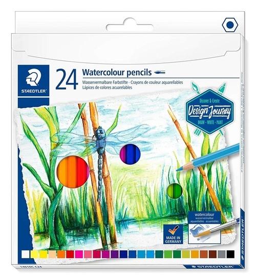Kredki akwarelowe sześciokątne 24 kolorów (S 146C C24)