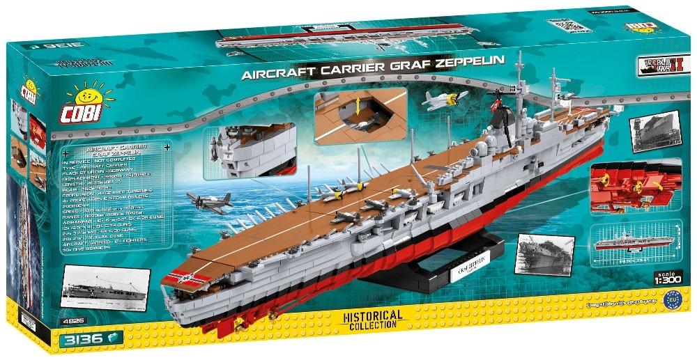 Cobi: Historical Collection. World War II - Aircraft Carrier Graf Zeppelin (4826)