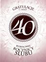 Karnet 40 rocznica ślubu RS0240
