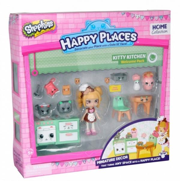 HAPPY PLACES SHOPKINS Zestaw startowy Kitty Kitchen (HPP56155B)