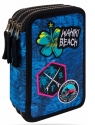 Coolpack - Jumper 3 - Piórnik potrójny z wyposażeniem - Blue (Badges G) (B67156)