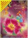 Karnet składany 3D - Kwiat z motylkiem