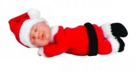 Lalka Anne Geddes śpiący mikołaj 9