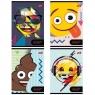 Zeszyt A5/32= linia podwójna dwukolorowa laminowany Emoji