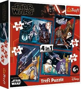 Puzzle 4w1: Star Wars. Poczuj moc (34326)