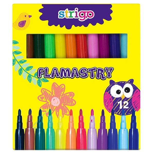 Flamastry Strigo 12 kolorów (SSC007)
