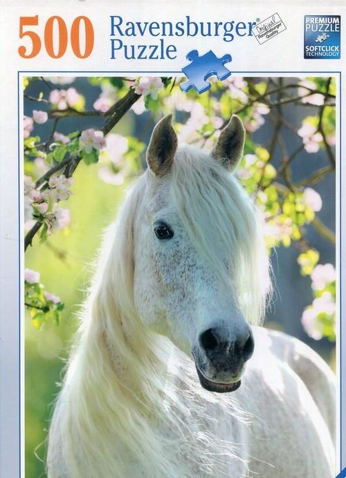 Puzzle 500 Biały koń