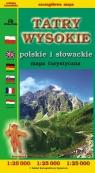 Tatry Wysokie polskie i słowackie mapa turystyczna 1:25 000