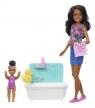 Barbie Opiekunka (brunetka) - kąpiel z bąbelkami (FHY97/FXH06)