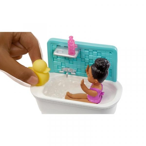 Barbie Skipper: Klub opiekunek - Zestaw Kąpiel z bąbelkami (FHY97/FXH06)