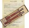 Komplet długopis Zenith-7 i pióro Omega w etui  Retro bordowy