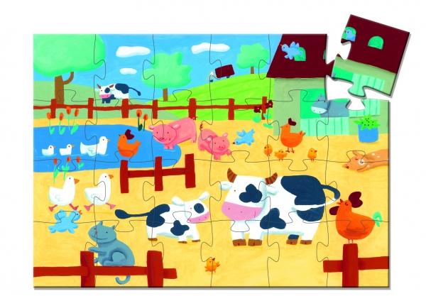 Puzzle postaciowe Krówka na farmie (DJ07205)