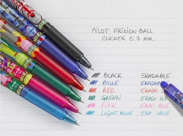 Pióro kulkowe Frixion Ball Clicker Mika Edyzja limitowana czerwone (BLRT-FR7-R-MK)