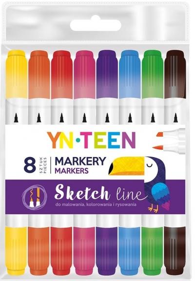 Marker Sketch Line 8 kolorów YN TEEN
