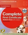Complete First Certificate student's book with CD
