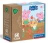 Clementoni, Puzzle Play For Future 60: Świnka Peppa (26103)