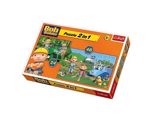 Puzzle Bob Budowniczy Razem zawsze raźniej 2w1 (34127)