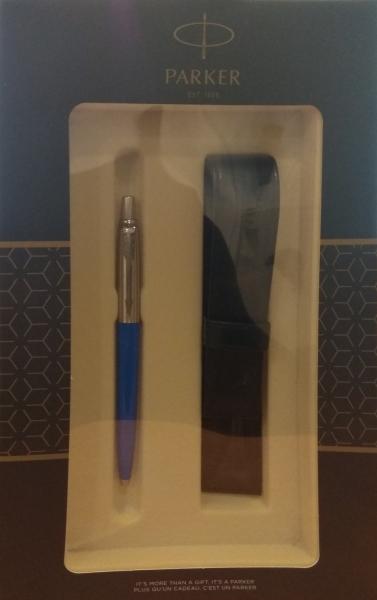 Zestaw upominkowy Parker: Długopis Parker Jotter niebieski + Etui Pagani (S0825270)