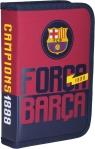 Piórnik pojedyńczy z wyposażeniem FC Barcelona 1W2 FC-88