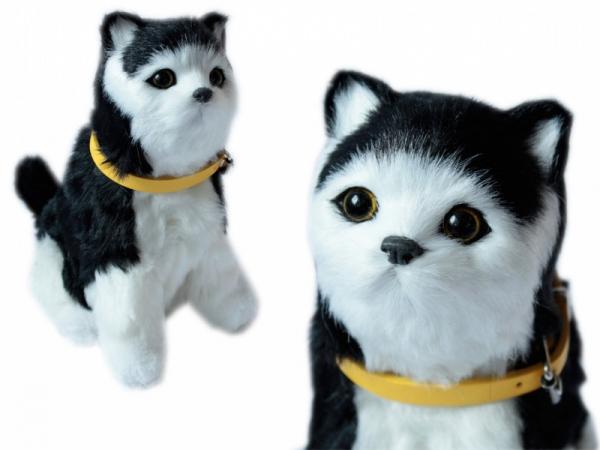 Maskotka Kotek interaktywny czarno-biały (107271)