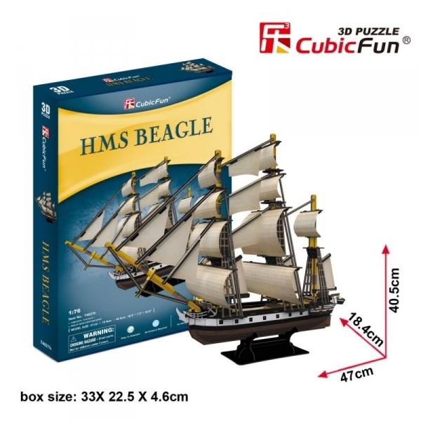 Puzzle 3D Żaglowiec 168 elementów (T4027h)
