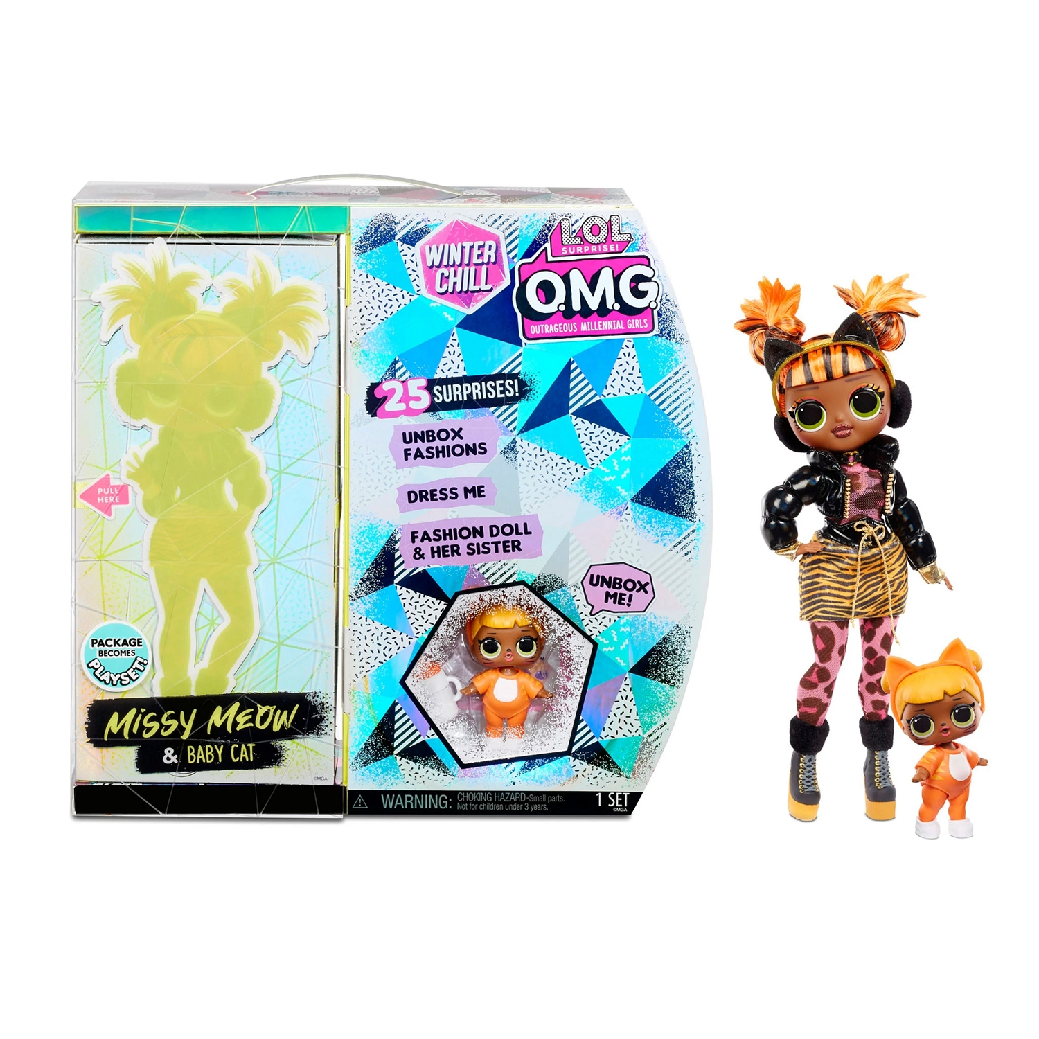 L.O.L. Surprise! O.M.G. Winter Chill - Missy Meow i Baby Cat (570271E7/570264)