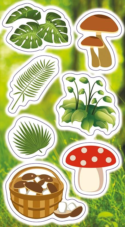 Naklejki Rośliny i Grzyby