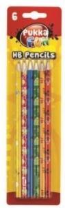 Ołówki HB 6szt. PUKKA