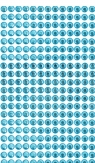 Kryształki samoprzylepne 6mm, 260 szt. blue (niebieski) (GRKR-055)