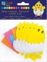 Zestaw kreatywny kurczaki z pianki 6 szt