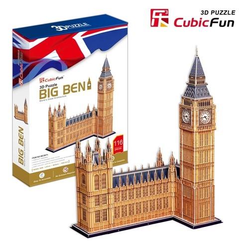 Puzzle 3D Zegar Big Ben duży zestaw (C087H)