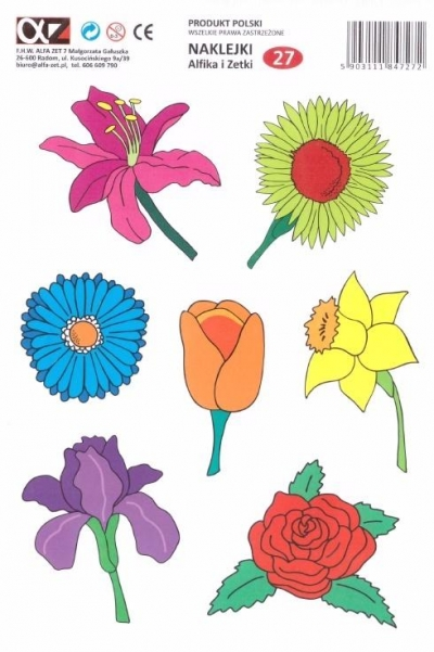 Naklejki Alfika i Zetki 27 Kwiatki