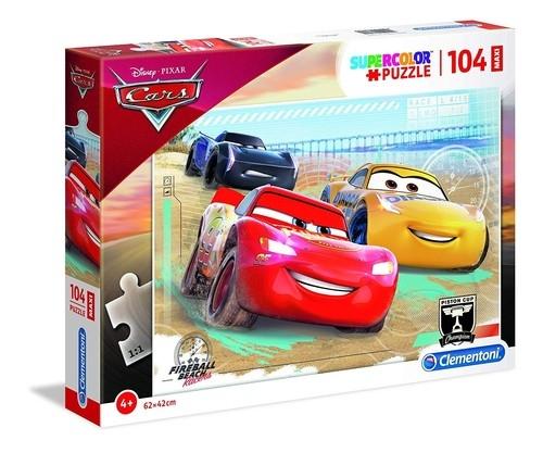 Puzzle 104 maxi superkolor: Cars