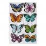 Motyle samoprzylepne z diamentami