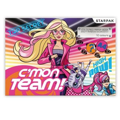 Papier kolorowy A5/10k Barbie Spy 352938 .