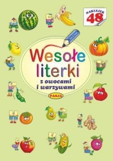 Wesołe literki z owocami i warzywami Budek Mariola