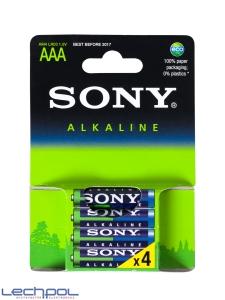 Baterie. 4x bateria alkaliczna. Sony blue LR03/AAA
