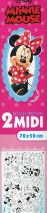 Kolorowanka midi Minnie Mouse