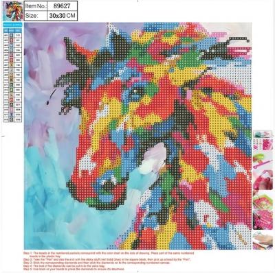 Mozaika diamentowa 5D 30x30cm Horse 89627