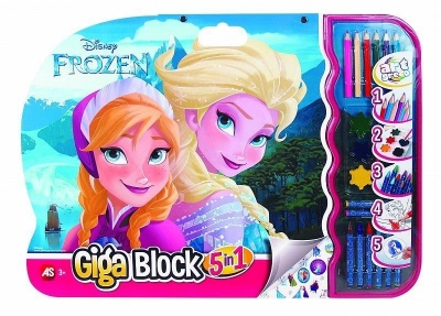 Giga Block - Zestaw dla artysty 5w1 - Frozen