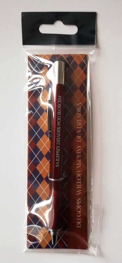 Długopis wielofunkcyjny, Najlepszy Dziadek pod słońcem, brązowy