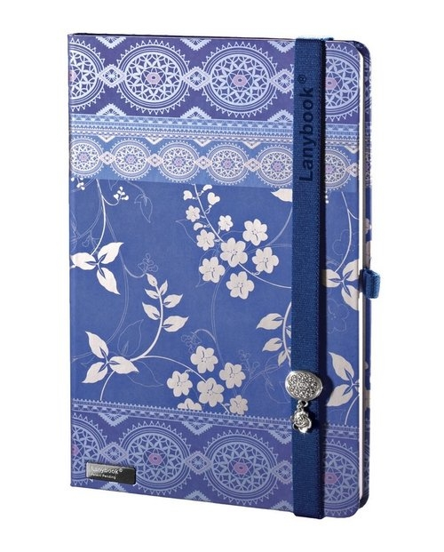 Notes A5 Lanybook Oriental Dream w kratkę niebieski
