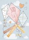 Karnet urodziny Latawce 12x16,5 cm