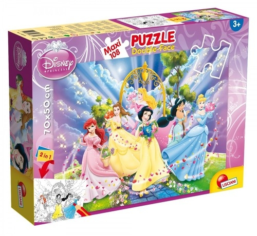 Puzzle dwustronne maxi 108: Księżniczki Disneya (304-48274)